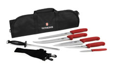 Victorinox Fibrox BBQ Knife Roll Set