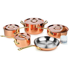 Mauviel M'heritage 250B 2.5mm Copper Cookware Set