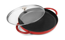 Staub 10-inch Steam Grills with Glass Lid