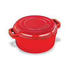 Staub 7-quart Braise & Grill Round Dutch Ovens with Grill Pan Lid