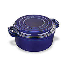 Staub 7-quart Braise & Grill Round Dutch Oven with Grill Pan Lid
