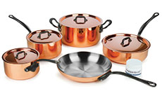 Mauviel M'heritage 150C2 Copper Cookware Set