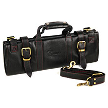 Boldric 17-pocket Leather Knife Bag