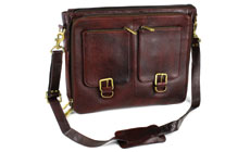 Boldric 10-pocket Leather Messenger Knife Bag