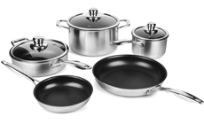 Swiss Diamond Prestige Clad Stainless Steel Nonstick Cookware Set