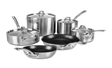 Viking Professional 5-ply Stainless Steel Cookware Set with Nonstick Skillets