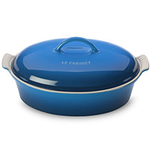 Le Creuset Stoneware 4-quart Heritage Covered Oval Casseroles