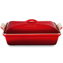 Le Creuset Stoneware 4-quart Heritage Covered Rectangular Dishes