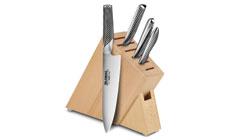 Global 5-piece Slim Knife Block Sets
