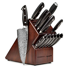 Kramer by Zwilling Stainless Damascus Knife Block Set