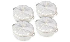 Staub Ceramic 4-piece Mini Pumpkin Cocotte Sets