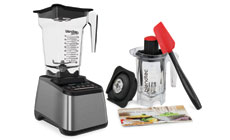 Blendtec Designer 725 Gun Metal Blender with WildSide+ Jar and Twister Jar
