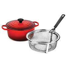 Le Creuset Signature Cast Iron 5½-quart Round Dutch Oven with Fry Basket