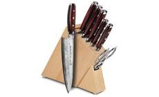 Yaxell Super Gou 8-piece Slim Knife Block Sets