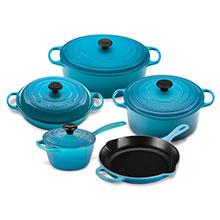 Le Creuset Signature Cast Iron 9-piece Cookware Sets