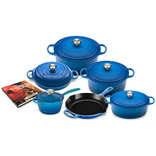 Le Creuset Signature Cast Iron 12-piece Cookware Sets