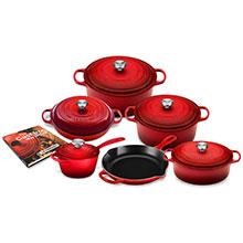 Le Creuset Signature Cast Iron 12-piece Cookware Sets