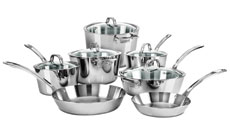 Viking Contemporary Tri-Ply Stainless Steel Cookware Set