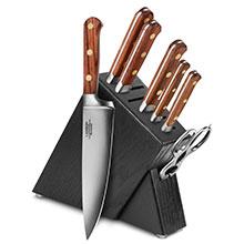 Lamson Rosewood 8-piece Slim Knife Block Sets