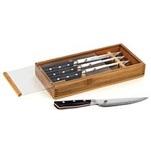 'Miyabi Evolution Steak Knife Set' from the web at 'http://cdn.cutleryandmore.com/products/small/36608.jpg'