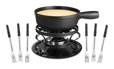 Swissmar 9-piece Lugano Cast Iron Fondue Set