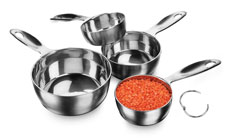 Amco Advance Performance Stainless Steel Measuring Cup Set