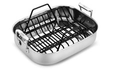 All-Clad Stainless 14 x 11-inch Roasting Pan with Rack