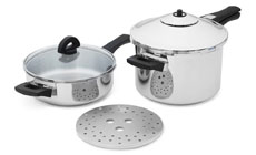 Kuhn Rikon Duromatic Duo Stainless Steel Pressure Cooker Set
