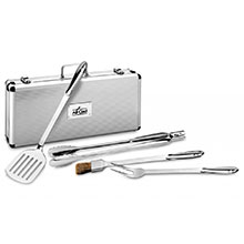 All-Clad Stainless Steel BBQ Tool Set with Case