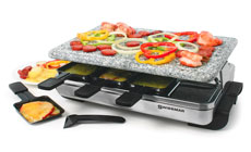 Swissmar Stelvio Stainless Steel Raclette Grill with Granite Stone