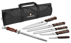Victorinox Forschner Rosewood Deluxe Knife Roll Set