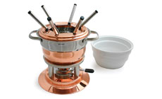 Swissmar Lausanne Copper Fondue Set with Ceramic Insert