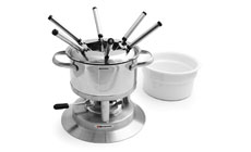 Swissmar Arosa Stainless Steel Fondue Set with Ceramic Insert