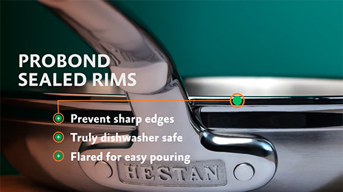 Hestan ProBond Forged Stainless Steel Cookware
